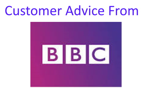 Customer advice from BBC